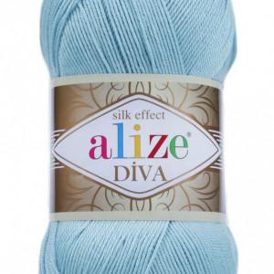 Fir de tricotat sau crosetat - Fir microfibra ALIZE DIVA BLEO 346
