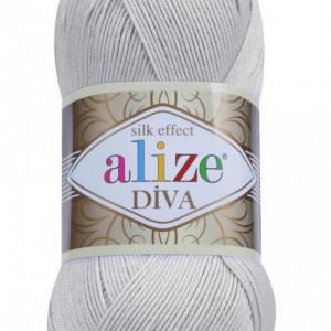 Fir de tricotat sau crosetat - Fir microfibra ALIZE DIVA GRI 168