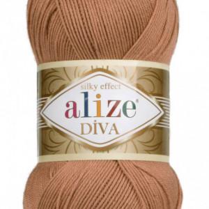 Fir de tricotat sau crosetat - Fir microfibra ALIZE DIVA MARO 261