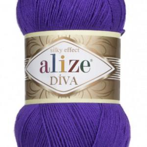 Fir de tricotat sau crosetat - Fir microfibra ALIZE DIVA MOV 252