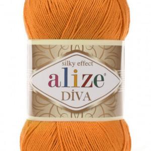 Fir de tricotat sau crosetat - Fir microfibra ALIZE DIVA PORTOCALIU 83