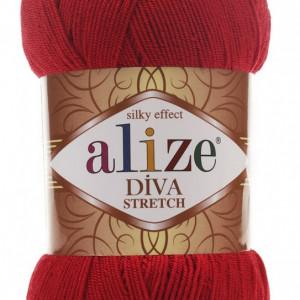 Fir de tricotat sau crosetat - Fir microfibra ALIZE DIVA STRETCH ROSU 106