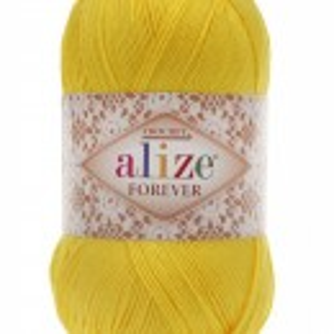 Fir de tricotat sau crosetat - Fir microfibra ALIZE FOREVER GALBEN 110