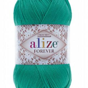 Fir de tricotat sau crosetat - Fir microfibra ALIZE FOREVER TURQUAZ 610