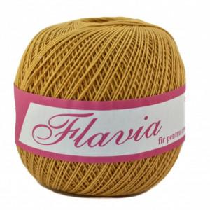Fir de tricotat sau crosetat - Fire Bumbac 100% FLAVIA ROMANOFIR BOBINA MUSTAR 1315