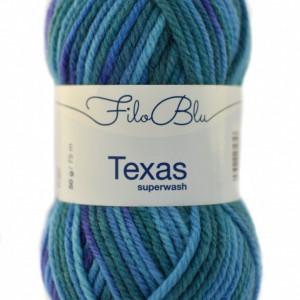 Fir de tricotat sau crosetat - Fire din lana 100% Filo Blu - Texas - 01