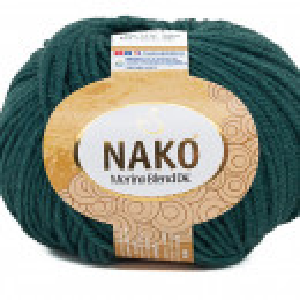 Fir de tricotat sau crosetat - Fire din lana 100% Nako Merino Blend DK - VERDE COD 4690