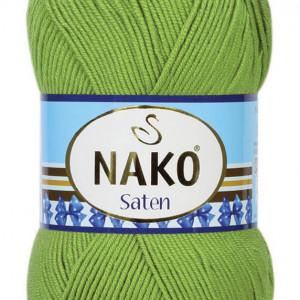 Fir de tricotat sau crosetat - Fire Nako SATEN VERDE 3330