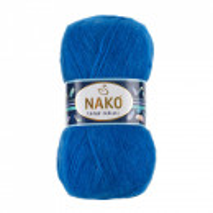 Fir de tricotat sau crosetat - Fire tip mohair acril NAKO MOHAIR DELICATE - ALBASTRU COD 6121