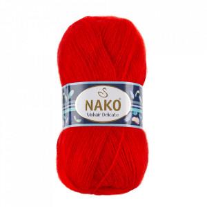 Fir de tricotat sau crosetat - Fire tip mohair acril NAKO MOHAIR DELICATE - ROSU COD 6150
