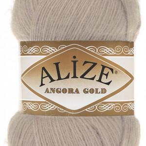 Fir de tricotat sau crosetat - Fire tip mohair din acril Alize Angora Gold Bej 506