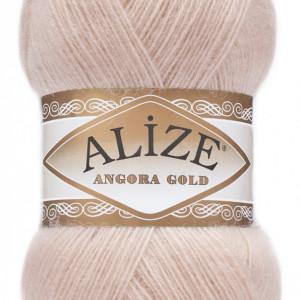 Fir de tricotat sau crosetat - Fire tip mohair din acril Alize Angora Gold Pudra 404