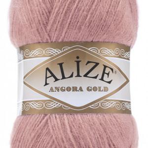 Fir de tricotat sau crosetat - Fire tip mohair din acril Alize Angora Gold Pudra 144