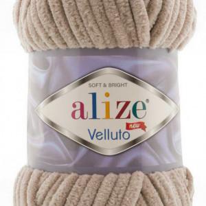 Fir de tricotat sau crosetat - Fire tip mohair din acril ALIZE VELLUTO BEJ 530