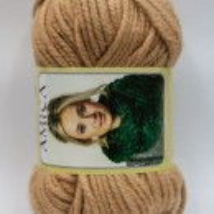 Fir de tricotat sau crosetat - Fire tip mohair din acril AMICA BEJ - 317
