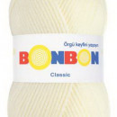 Fir de tricotat sau crosetat - Fire tip mohair din acril BONBON CLASIC CREAM 98223