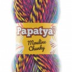 Fir de tricotat sau crosetat - Fire tip mohair din acril Kamgarn Papatya Mouline Chunky Degrade 5174