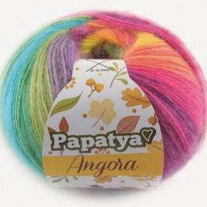 Fir de tricotat sau crosetat - Fire tip mohair din acril Kamgarn Papatya Angora degrade 37