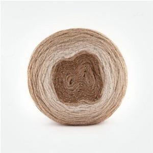 Fir de tricotat sau crosetat - Fire tip mohair din acril Kamgarn Papatya CAKE SILVER degrade 302