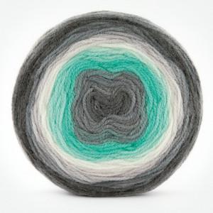 Fir de tricotat sau crosetat - Fire tip mohair din acril Kamgarn Papatya CAKE degrade 217
