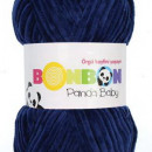 Fir de tricotat sau crosetat - Fire tip mohair din acril NAKO BONBON PANDA BABY ALBASTRU 3096