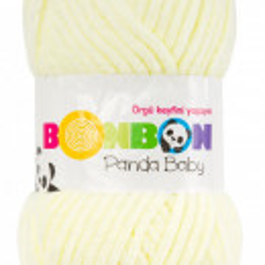 Fir de tricotat sau crosetat - Fire tip mohair din acril NAKO BONBON PANDA BABY GALBEN 3118