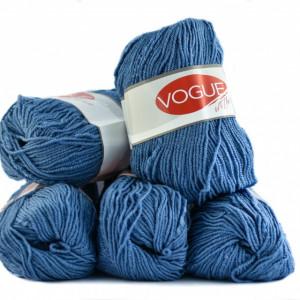 Fir de tricotat sau crosetat - Fire tip mohair din acril Nako Export - #7330-ALBASTRU