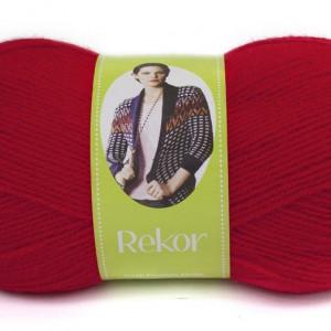 Fir de tricotat sau crosetat - Fire tip mohair din acril premium Nako REKOR ROSU 6555