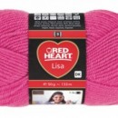 Fir de tricotat sau crosetat - Fire tip mohair din acril RED HEART LISA UNI ROZ 8305