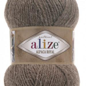 Fir de tricotat sau crosetat - Fire tip mohair din alpaca 30%, lana 15%, acril 55% Alize Alpaca Royal BEJ 688