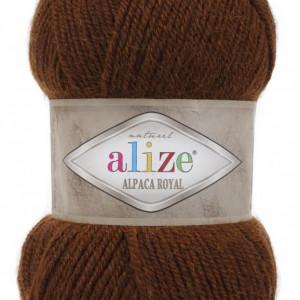 Fir de tricotat sau crosetat - Fire tip mohair din alpaca 30%, lana 15%, acril 55% Alize Alpaca Royal MARO 690