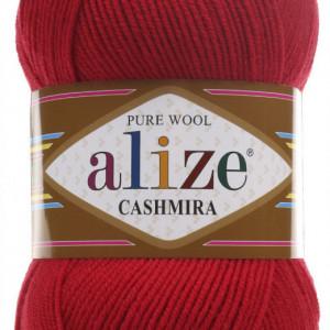 Fir de tricotat sau crosetat - Fire tip mohair din lana 100%, Alize CASHMIRA ROSU 56
