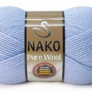 Fir de tricotat sau crosetat - Fire tip mohair din lana 100% Nako PURE WOOL BLEO 271