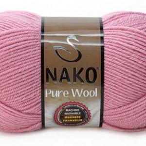 Fir de tricotat sau crosetat - Fire tip mohair din lana 100% Nako PURE WOOL ROZ 275