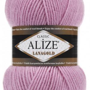 Fir de tricotat sau crosetat - Fire tip mohair din lana 49% si acril 51% Alize Lanagold Roz 98