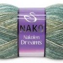 Fir de tricotat sau crosetat - Fire tip mohair din lana 49% si acril 51% Nakolen DREAMS degrade 31444