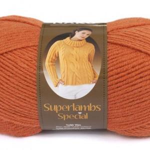 Fir de tricotat sau crosetat - Fire tip mohair din lana 50% si acril 50% Nako Superlambs Special oranj 2526