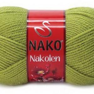 Fir de tricotat sau crosetat - Fire tip mohair din lana 50% si acril 50% Nakolen VERDE 23107