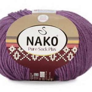 Fir de tricotat sau crosetat - Fire tip mohair din lana si polyamida Nako PURE SOCK PLUS MOV 10506
