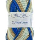 Fir de tricotat sau crosetat - Fire tip mohair din poliester Filo Blu - Cotton Love - 01 DEGRADE