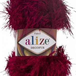 Fir de tricotat sau crosetat - FANCY - ALIZE DECOFUR GRENA 57