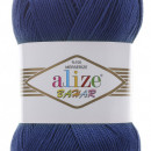Fir de tricotat sau crosetat - Fir BUMBAC 100% ALIZE BAHAR ALBASTRU 360