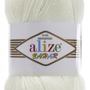Fir de tricotat sau crosetat - Fir BUMBAC 100% ALIZE BAHAR CREAM 01