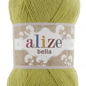 Fir de tricotat sau crosetat - Fir BUMBAC 100% ALIZE BELLA 100 - VERDE 165