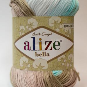 Fir de tricotat sau crosetat - Fir BUMBAC 100% ALIZE BELLA BATIK 3675
