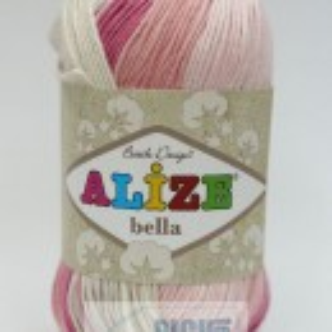 Fir de tricotat sau crosetat - Fir BUMBAC 100% ALIZE BELLA BATIK 5512
