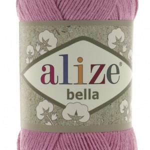 Fir de tricotat sau crosetat - Fir BUMBAC 100% ALIZE BELLA - ROZ 198