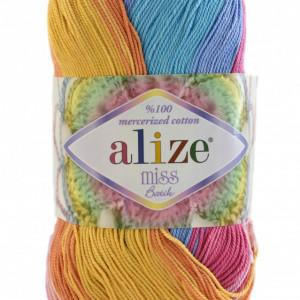 Fir de tricotat sau crosetat - Fir BUMBAC 100% ALIZE MISS BATIK DEGRADE 4536