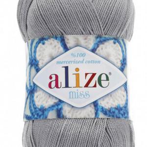 Fir de tricotat sau crosetat - Fir BUMBAC 100% ALIZE MISS GRI 496