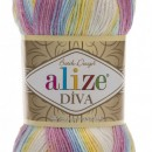 Fir de tricotat sau crosetat - Fir microfibra ALIZE DIVA BATIK DEGRADE 6785